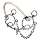 Tough-1 Combination Rope Nose/Snaffle Mouth Bit
