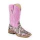 Roper Ladies Sq Toe Pink Camo Glitter Boots 11