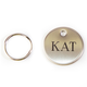 Personalized Round Halter/Bridle Tag Nickel