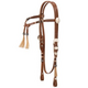 Royal King Rolled Braided Tassel Knotted Headstall