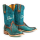 Tin Haul Ladies Feather Square Toe Boots