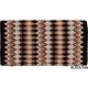 Mustang Heavy Navajo Wool Saddle Blanket BLU/Black