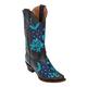 Ferrini Ladies Star Power Snip Toe Boots 10 Turq