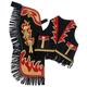 Tough-1 Premium Youth Chap/Vest Set Horse/Flame L