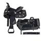 Tough-1 Spur Rowel 5-Piece Pony Saddle Package Brn