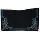 Tough-1 Contour Wool Saddle Blanket w/Floral Turq