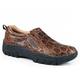 Roper Mens Old Croc Faux Tortoise Brown Shoes 7