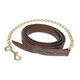 Walsh Fancy Stitch Leather Lead with Chain 6ftx1In
