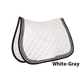 Roma Crescent All Purpose Saddle Pad White/Gray/Bl