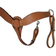 Western Leather Shaped Roper Breast Collar