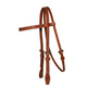 Western Leather Browband Headstall w/Chicago End