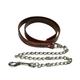 Western Latigo Leather Lead w/Chain