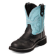 Justin Ladies Gypsy 8in Boots 11 Black/Blue Deerco