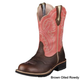 Ariat Ladies Showbaby Boots 11 Earth Bone Crackle