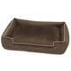 Jax and Bones Fur Velour Lounge Bed Driftwood