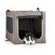 KH Mfg Classy Go Brown/Green Soft Dog Crate