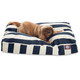 Outdoor Navy Blue Stripe Rectangle Pet Bed