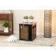 Digger Dog Crate with Metal Floral Design
