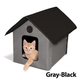 KH Mfg Unheated Gray/Black Outdoor Kitty House