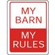 MY BARN SIGN 9 X 12