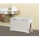 Merry Products Cat Washroom with Bench Litterbox
