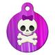 Girlie Skull Pet ID Tag Large