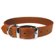 Luxe Leather Dog Collar 24 Inch Tobacco Brown
