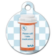 I Take Medication Pet ID Tag