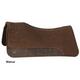 Circle Y Square Choc Wool Felt Pad 34x32 Blk Leath