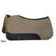 Circle Y Scallop Gray Wool Felt Pad 34x32 Blk Leat