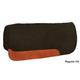 Circle Y Vented Black Wool Pad 34x32 Blk Leath