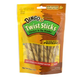 Dingo Peanut Butter Rawhide Twist Sticks 25 Pack