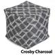 Jax and Bones Crosby Charcoal Pouf Ottoman