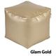 Jax and Bones Glam Gold Vinyl PVC Pouf Ottoman