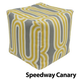Jax and Bones Speedway Canary Pouf Ottoman