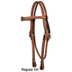Circle Y Old West Browband Headstall Regular Oil