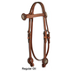 Circle Y Iron Spur Browband Headstall Cherrywood