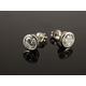 Vibershield Austr Purestone Silver Stud Earrings