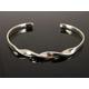 Vibershield Full Twist Sterling Silver Cuff