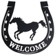 Welcome Running Horse Horseshoe
