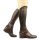 Saxon Equileather Childs Half Chaps L  Brown