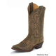 Justin Ladies Bent Rail Boot 7  Chocolate Ponteggi