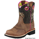 Ariat Kids Fatbaby Cowgirl 6  BrownCrnkl/Snowflake