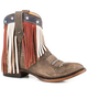 Roper Ladies Patriotic Fringe Rnd Toe Short Boot