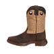 Lil Rebel Durango Kids Sq Toe Tan Saddle Boots