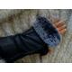Morris Kaye Handsfree Shearling Gloves w/Rabbit
