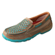 Twisted X Ladies Bomber/Turq Slip-On Mocs