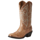 Ariat Ladies Round Up Sq Toe Wood Brown Boots
