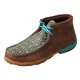 Twisted X Ladies Brown/Turq Driving Moccasins