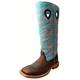 Twisted X Kids Sq Toe Brn/Blue Buckaroo Boots